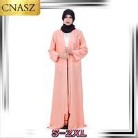 2019 Latest Muslim Robes High Quality Abaya Dubai Islamic Long Sleeve Clothing Diamonds Embroidered Middle Eastern Cardigan