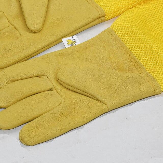 1set Beekeeping Gloves Goatskin Bee Keeping With Vented Beekeeper Long Sleeves  5