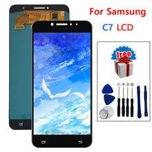 Bloc écran tactile LCD en verre de remplacement, outil gratuit, pour Samsung Galaxy C7 C7000
