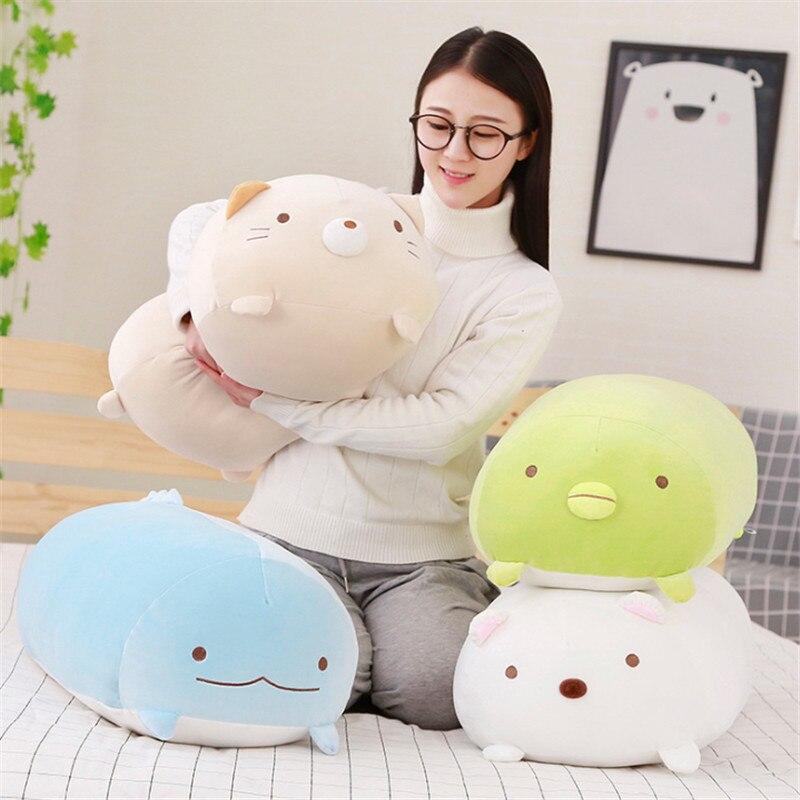 1pc 28/60/ 90cm Cute Corner Bio Pillow Japanese Animation Sumikko Gurashi Plush Toy Stuffed Soft Valentine Gift For Baby Girl