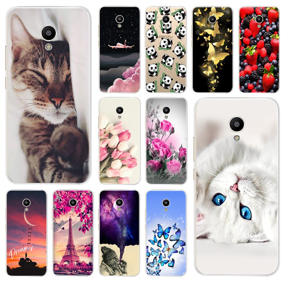 "Fundas For Meizu M5C Cases Meilan A5 Cover Soft Silicon Print Back Phone Coque For Meizu A5 M5C M5 C M 5C 5.0"" Case Cover Bumper"