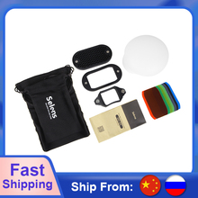 Selens 7 Color Filters Honeycomb Grids Light Sphere Bounce Snoot Grip Lighting Modifier with Magnetic for Flash Accessories Kit