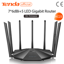 Tenda AC23 Gigabit Dual-Band AC2100 Wireless Router Wifi Repeater with 7*6dBi High Gain Antennas Wider Coverage, Easy setup