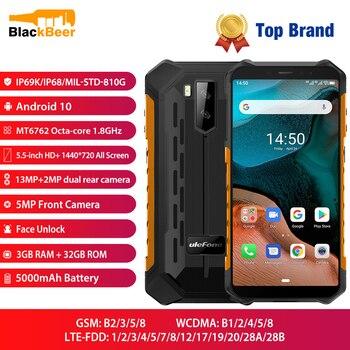 Купить Мобильный телефон Ulefone Armor X5, 5,5 дюйма, 4G LTE, прочный водонепроницаемый смартфон на базе Android 10, сотовый телефон, 3 ГБ 32 ГБ, Восьмиядерный процесс...