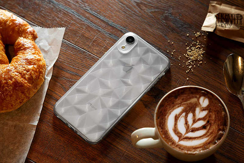 3D ダイヤモンド Tpu 電話ケースのための iphone 6 6s 7 8 プラス X XR XS 11 プロマックスカバー透明超薄型シェル funda