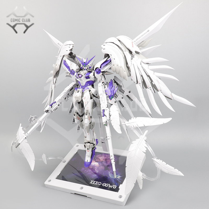 COMIC CLUB INSTOCK MODLE HEART MG 1/100 Wing Gundam Zero Ew Fix Ver. Purple Color Action Assembly Figure Robot Toy