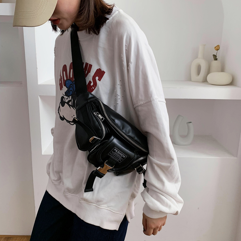 Сумка из искусственной кожи на молнии, Женская поясная сумка, модная нагрудная сумка с ремнем, сумка для путешествий, денег, телефона, сумки