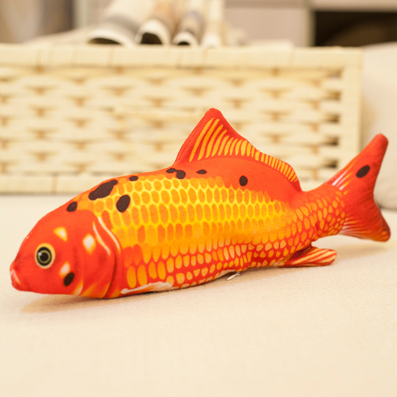 Simulation Fish Toy Dog Toys Interactive Cat Toy Electronic Pet Cat USB Battery Charging Cat Chewing Playing Toy Biting Supplies