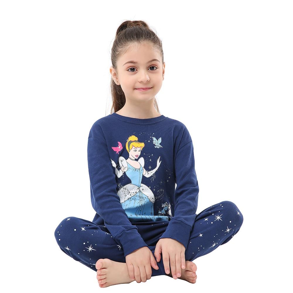 Children Sleepwear Baby Nightwear Pyjamas Kids Homewear Nightwear Full Sleeve Cotton Baby Girls Unicorn Pajamas Sets 4