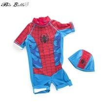 Детская пляжная одежда для купания для мальчиков, одежда для купания для маленьких мальчиков с человеком-пауком, купальный костюм для маленьких мальчиков возрастом от 2 до 7 лет, одежда для купания для маленьких мальчиков