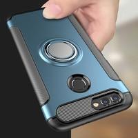 Heavy Duty Armatura Per Il Caso di Huawei P20 Lite P30 Pro P10 P di Smart 2019 Plus Honor 8 9 10 8X 7X 8S Compagno di 20 NOVA 3 3i 10i Del Supporto Della Copertura
