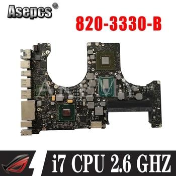 "Laptop Motherboard for Macbook Pro 15.4"" A1286 2.6 GHZ i7 logic board 820-3330-B 2012"