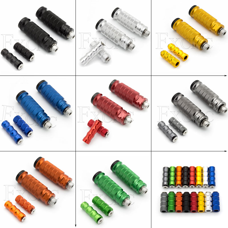 Footrest Universal Motorcycle Pegs Footrests Motorbike Footrest Foot Steps Motorcycle For Honda CB500F CB400F CBR500 MSX125