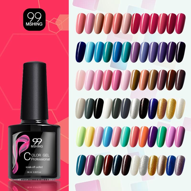 MSHING99 Gel Nail Polish UV Nail Gel Manicure UV Led Color Gel Polish Soak Off  Nail Gel Varnish  No Wipe Top Coat And Base Coat