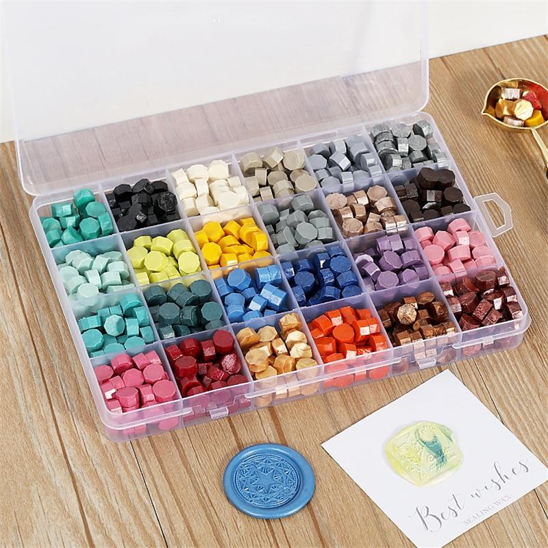 10/15/24 Grids DIY Gold Wax Seal Box Set for Seali