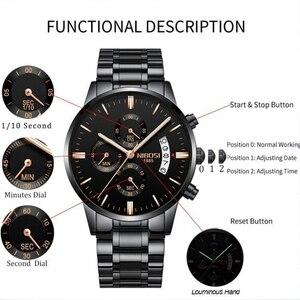Image 3 - NIBOSI Relogio Masculino Top Marke Luxus Herren Uhren Mode Wasserdichte Auto Datum Quarzuhr Männer Sport Business Männer Uhr