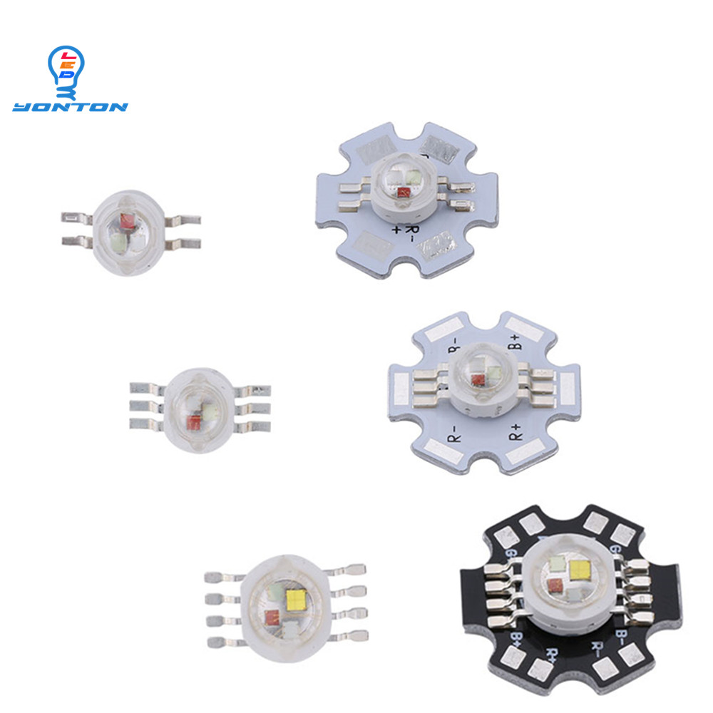 1W 3W  RGB RGBW Led 4pins 6pins 8pins High Power Led Light Chips For DIY Lighting