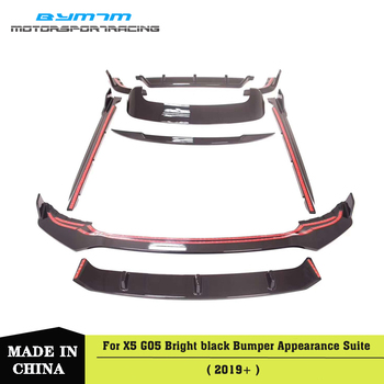 PP Material Bumper Front lip Rear Diffuser Side skirts Spoiler For BMW X5 G05 2019+