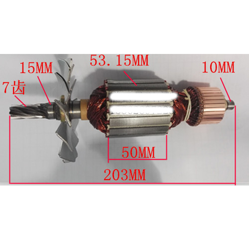 AC220-240V Armature Rotor Anchor Replace For Hitachi CC14SE Rotor High Speed Cutting Machine Power Tool Repair Spare Parts