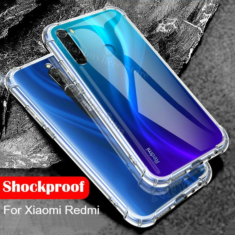 Clear TPU Phone Case For Xiaomi Redmi K20 Note 8 7 6 5 9 Pro 8T Shockproof Case For Redmi 8 8A 7A note7 note8T Transparent Cover(China)