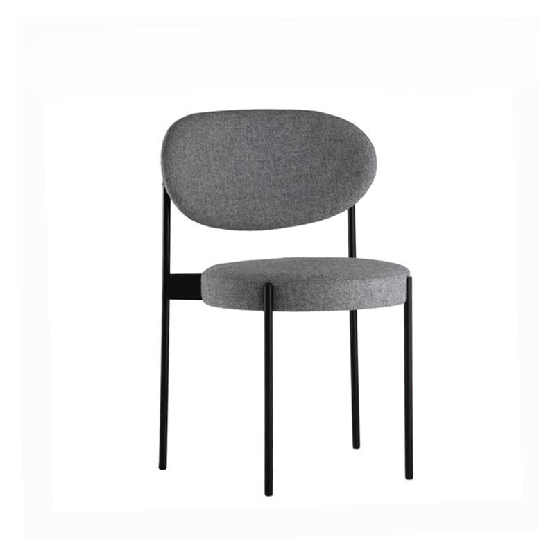 Northern European Style Light Luxury Dining Chair Domestic Ins Net Red Makeup  Post Modern Simple Restaurant Iron Stool Bac