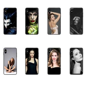 TPU Protector Phone Cases For Huawei P8 P9 P10 P20 P30 P40 Lite Plus Pro 2017 P Smart 2019 Angelina Jolie Luxury image