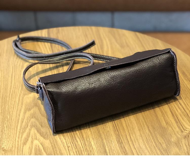 Бесплатная доставка кожаная простая сумка мессенджер однотонная