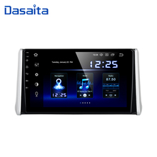 "Dasaita araba Android 10.0 radyo 1 din Toyota RAV4 GPS 2018 2019 Bluetooth MP3 araba Stereo multimedya 10.2 ""IPS dokunmatik ekran"