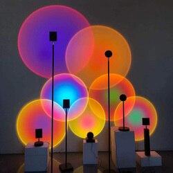 Lampadaire lampe de Projection salon personnalité créative fond décoration murale de Projection verticale arc-en-ciel lumière Led