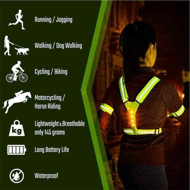 DEL Lampe de sécurité nuit Walking Clignotant Boucle Haute Vis pour la course cyclisme