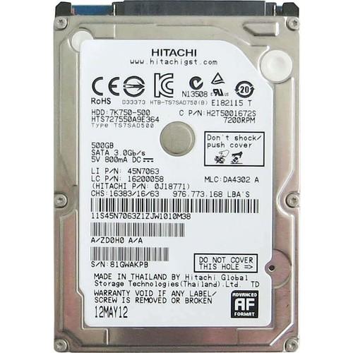 "Hitachi 500 GB 2.5 ""5400RPM Hard Disk (HGSTZ5K500) 2"