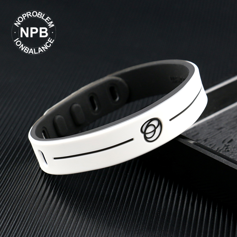 【FDA Registration】Noproblem Uv Tester  Ion Balance Therapy Sports Silicone Choker Tourmaline Germanium Wristband Band Bracelet