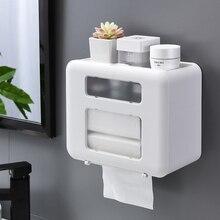 Toilet-Paper-Holder Waterproof Tissue-Box Bathroom-Accessories Home-Storage Plastic