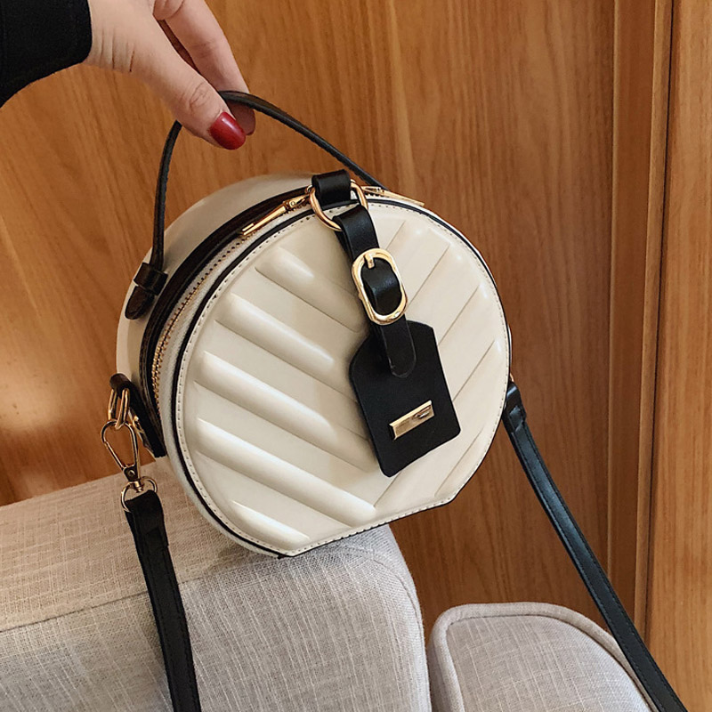 Crossbody Bag For Women Luxury Handbags Women Bags Designer Leather Round Small Shoulder Bag Female Zip Purse