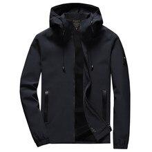 2020 nova marca jaqueta masculina zíper inverno primavera outono casual sólido com capuz jaquetas outwear masculino ajuste fino de alta qualidade M-8XL 46