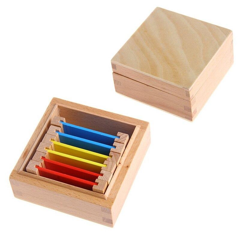 Монтессори Сенсорная Материал обучения Цвет планшетный коробка 1/2/3 дерева дошкольного обучения детей игрушка в подарок