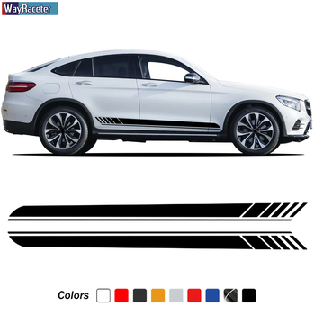 Edition 1 Side Stripes Skirt Sticker Decal For Mercedes Benz GLC Class X253 Coupe C253 GLC250 GLC300 GLC43 GLC63 AMG Accessories image