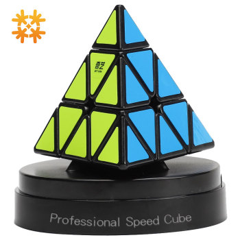 Pyramid Magic Speed Cube Pyramid Cubo Magico Qiyi 3x3 Cube Professional Puzzle Speed Cubes Education Toys For Children Gift Toy qiyi jelly color fun magic cube 3x3 stickerless speed cube puzzle finger toy antistress education toys for children cubo magico