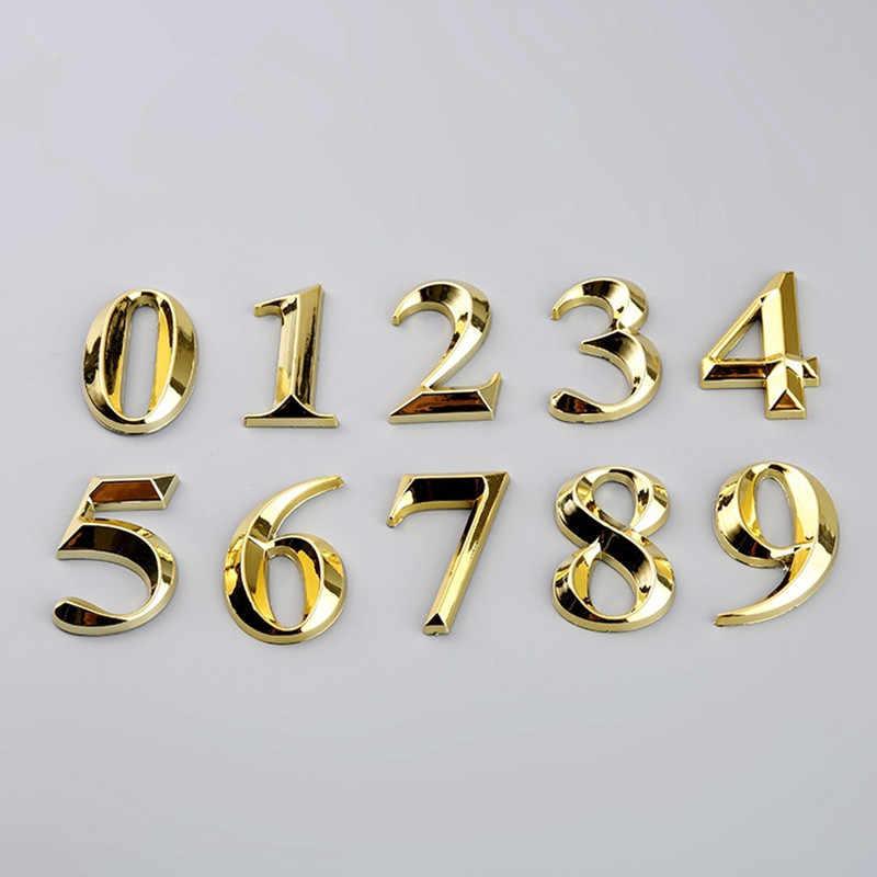 1 adet kapı haneli 0 ila 9 plastik numarası etiketi sayısal kapı plak ev çekmece işareti kaplama otel ev Sticker adres kapı etiket