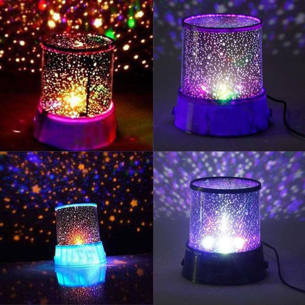 Projector Lamp Romantic Star Sky Novelty Lighting Night Light Projector Pink Amazing Master LED Christmas Gift Dreamlike