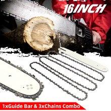 Barre de guidage de scie à chaîne pour STIHL 009 012 021 E180 MS180 MS190 MS250 HT70, 4/16 pouces, 3/8LP 050 pouces