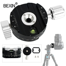 Dslr quick release clamp camera mount clip tripod plate adapter 360 rotate panoramic shooting clamp for arca swiss camera tripod