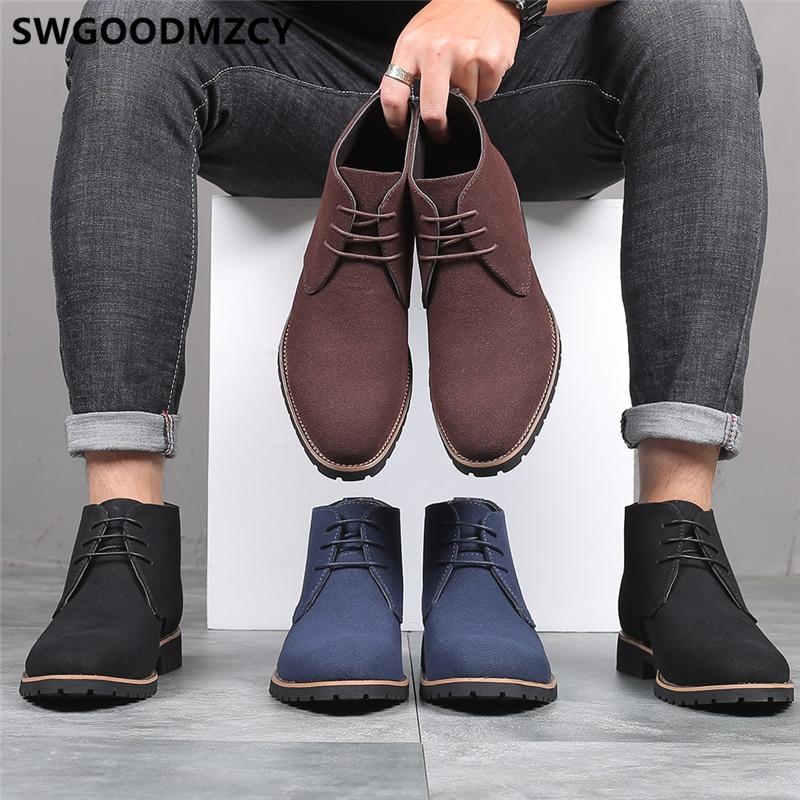 Chukka Boots Men Ankle Boots Men Desert Boots Shoes Men Zapatos De Hombre De Vestir Formal Buty Meskie Sepatu Pria Ayakabı 2020