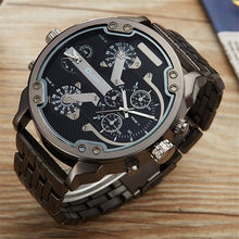 Oulm Large Big Watches Men Luxury Brand Unique Designer Quartz Watch Male Heavy Stainless Steel Strap Wrist Watch Mens Watches(China)