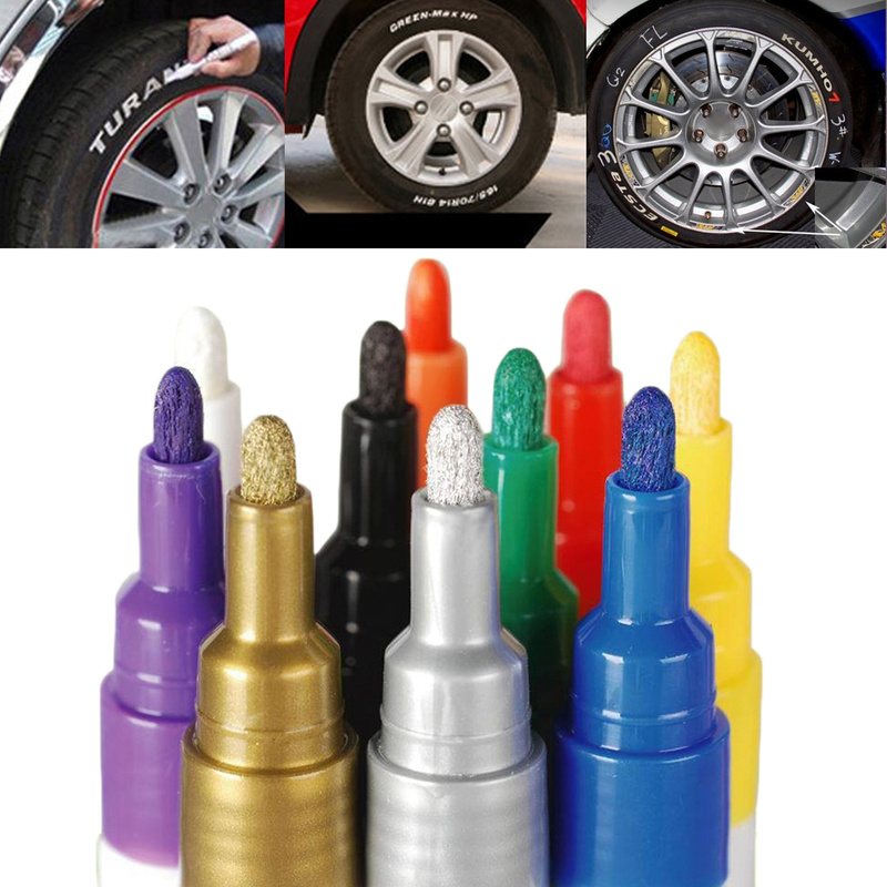 Auto Waterproof Pen Car Tire Tire Tread Metal Permanent Paint Markers Graffiti Oily Marker Pen Stationery Paint Care Car Coating