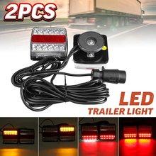 Luces LED traseras sumergibles universales, 12V, 15 LED, 2p, indicador trasero para remolque, marcador de barco, camión, campistas, luces traseras, caravana, ATV