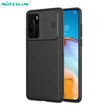 Nillkin caso de telefone para huawei p40/p40 pro capa camshield caso slide câmera lente proteção capa para huawei p40 pro 5g caso