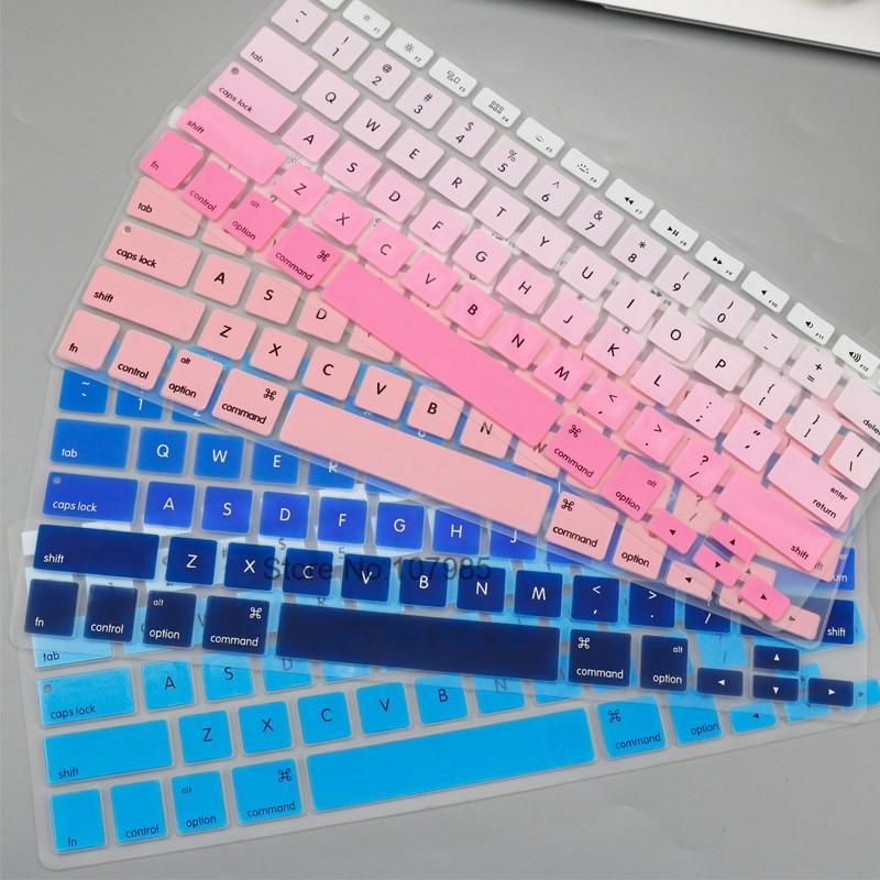 Английский, американский ввод, силиконовый чехол для клавиатуры, защитный чехол для Apple Macbook Air 13, ноутбук 2017, 2016, 2015, 2014, 2013, A1466