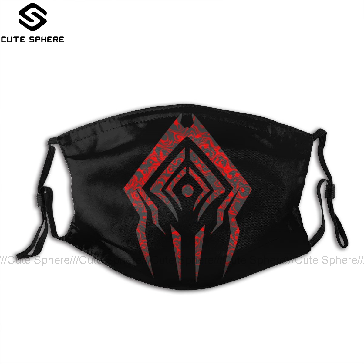 Warframe Mouth Face Mask Stalker Sigil Facial Mask Kawai Funny With 2 Filters For Adult
