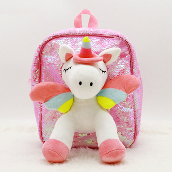 kawaii cute plush backpack metoo doll soft cartoon animal stuffed toy for girl kid children school shoulder bag for kindergarten Baby Plush Backpack Cartoon Unicorn Kindergarten Children Girl Schoolbag Soft Toy Children's School Bag For 3-6 Years